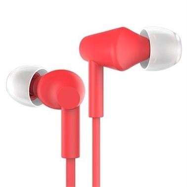 Joyroom Joyroom Je-106 Mikrofonlu Kulakiçi Kulaklık-Kırmızı Renkli